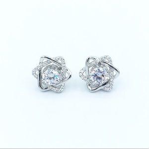 Jewelry - ✨925 Sterling Silver Stars CZ Stud Earrings✨